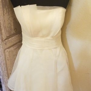 David's bridal light yellow dress